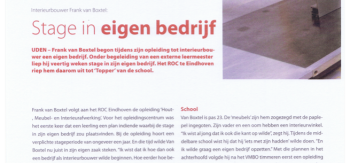 Stage in eigen bedrijf vakblad meubel Mei 2007 blad 1
